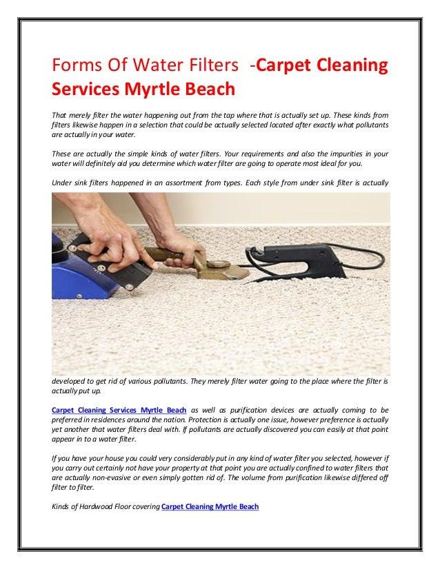 Myrtle Beach  Tap Water