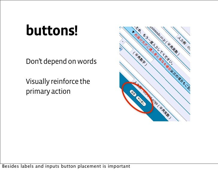 Forms Buttons Placement Inputs Button Placement is