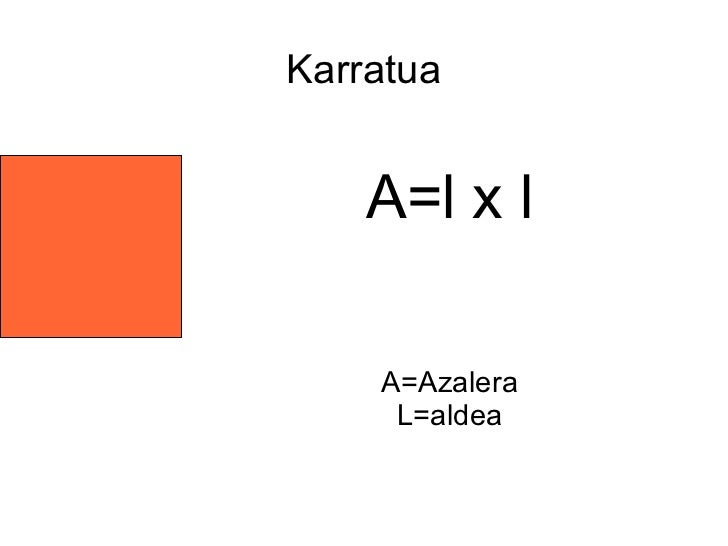 Karratua    A=l x l    A=Azalera     L=aldea