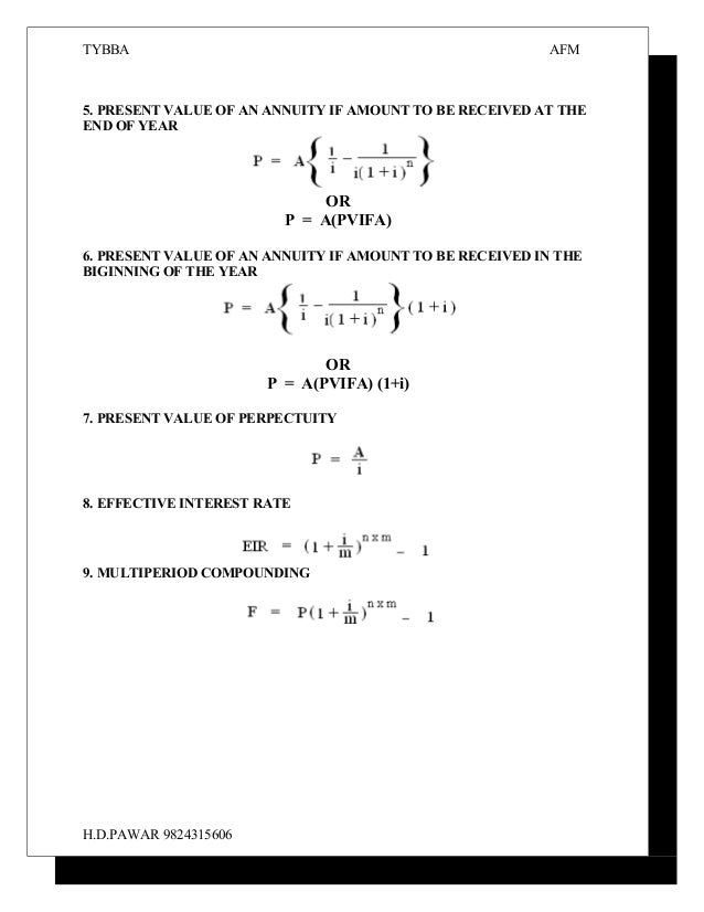 present value annuity formula