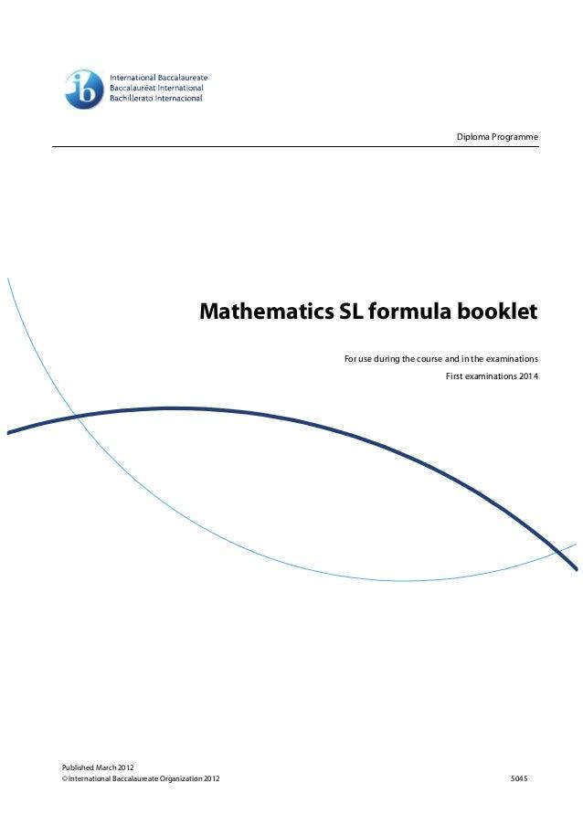 SL Formulabooklet