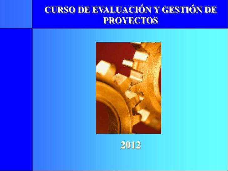 Formulacion evaluación gestión de proyectos