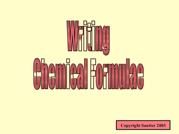Chemical Formulae