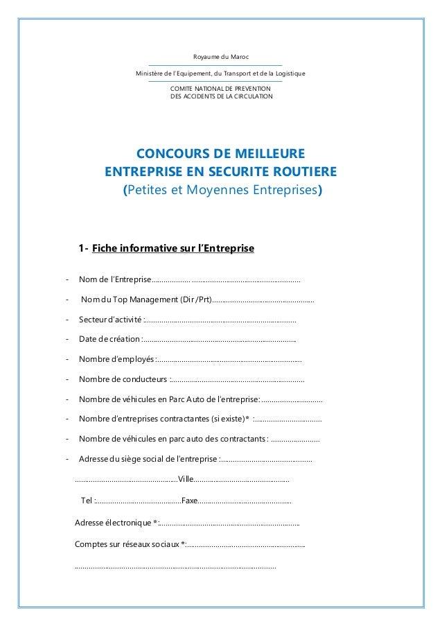 Royaume du Maroc  Ministère de l'Equipement, du Transport et de la Logistique  COMITE NATIONAL DE PREVENTION  DES ACCIDENT...