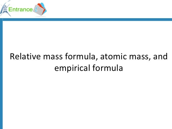 Formula mass for class 10   ok1294987900