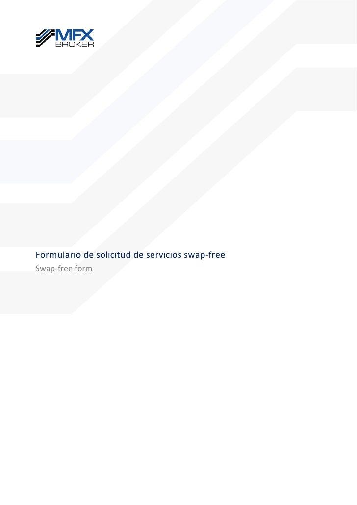 Formulario de solicitud de servicios swap-freeSwap-free form