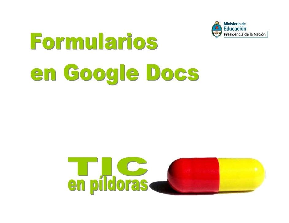 Veamos cómo generar un formulario para recoger información de manera automática en una planilla de datos, usando GoogleDoc...