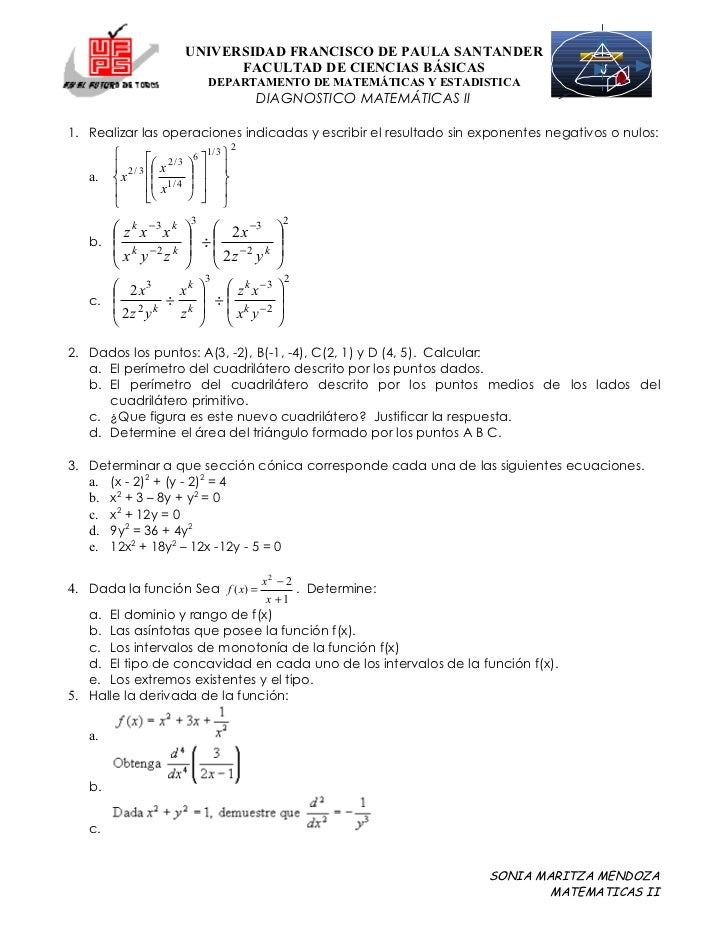 Formulas Integracion