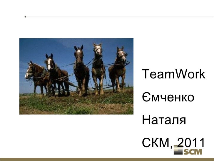 TeamWork Ємченко  Наталя СКМ, 2011