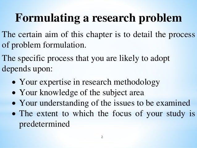 formulating statement of the problem in thesis Statement of the problem the purpose of this study is to develop a source material in food dehydration craft technology which can be used by makabayan teachers in teaching food dehydration in the home economics class.