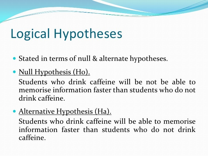 Formulating Hypotheses In Research