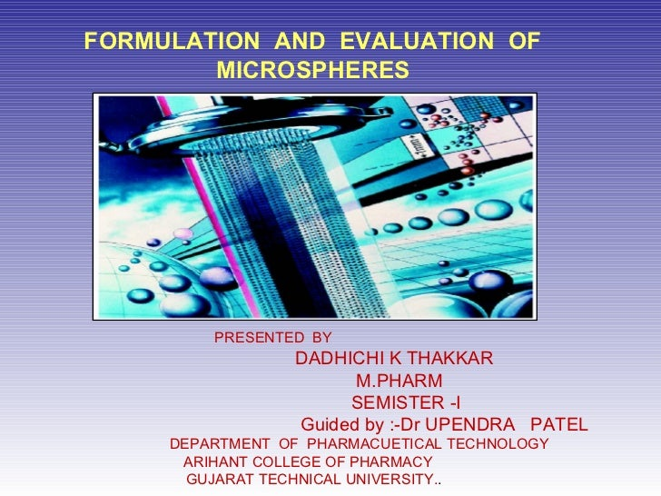 Formulation and evaluation_of_microspheres[1]