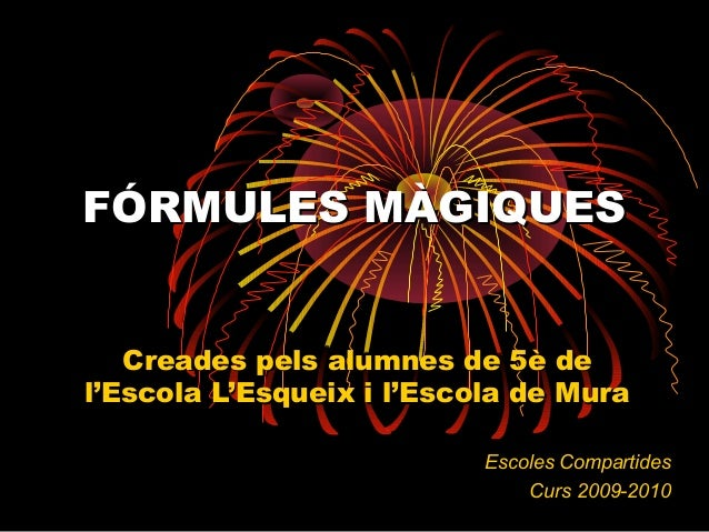 Formules Magiques