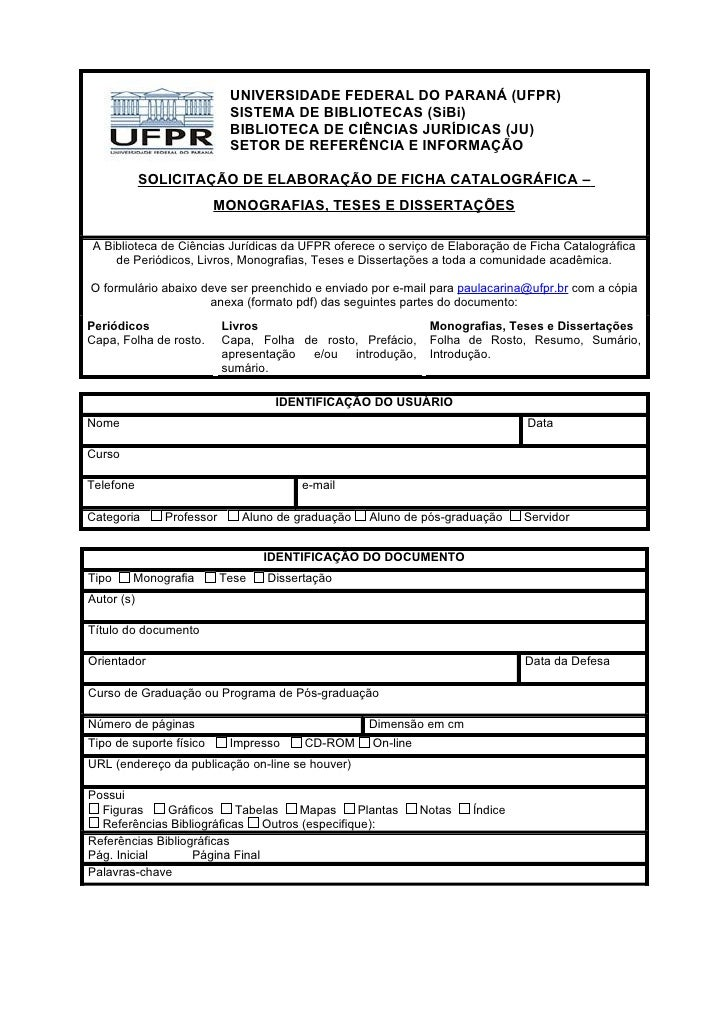 UNIVERSIDADE FEDERAL DO PARANÁ (UFPR)                            SISTEMA DE BIBLIOTECAS (SiBi)                            ...