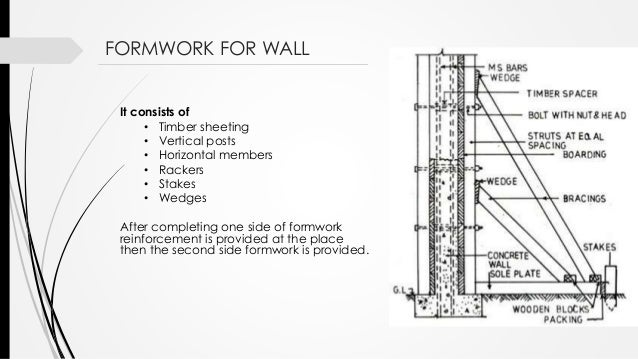 Vertical Shuttering Plywood For Wall : Formwork construction in structures