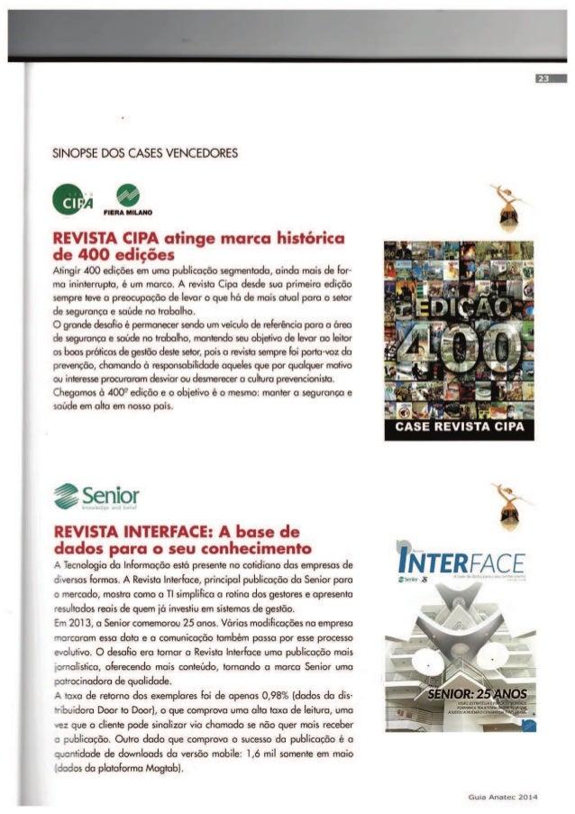 19º edição - Guia Anatec 2014   Revista Interface - A base de dados para seu conhecimento