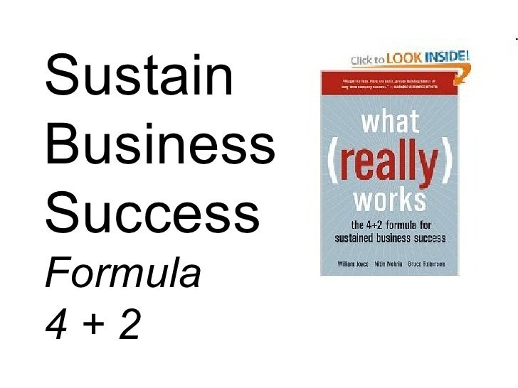 Sustain Business Success Formula 4 + 2