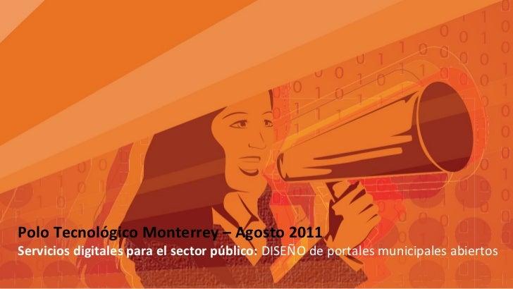 Servicios digitales para el sector público  DISEÑO de portales municipales abiertos