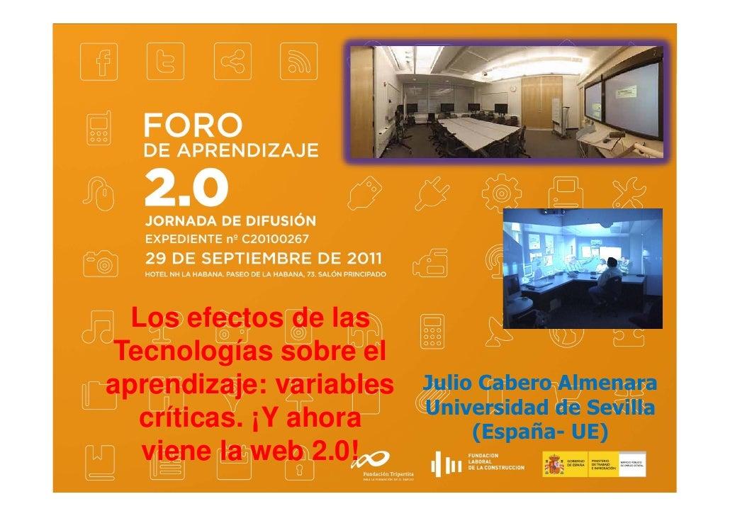 Foro aprendizaje 2.0 - Julio Cabero Almenara