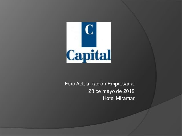 Foro capital financiero