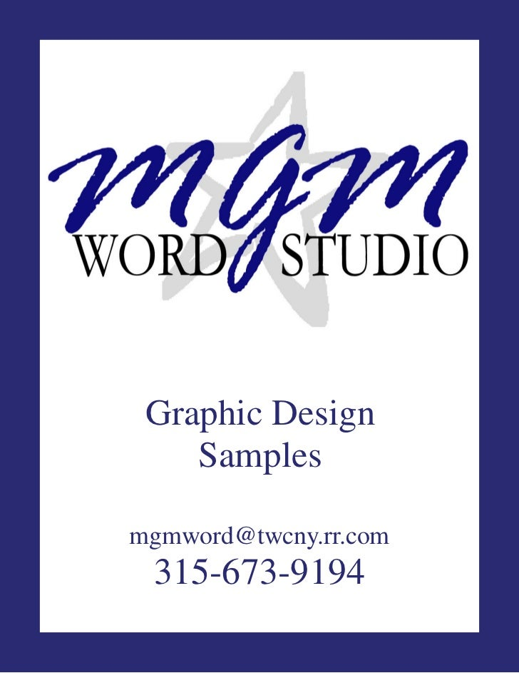 Graphic Design    Samplesmgmword@twcny.rr.com 315-673-9194