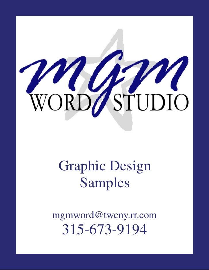 MGM Word Studio Inc. Graphic Design Portfolio