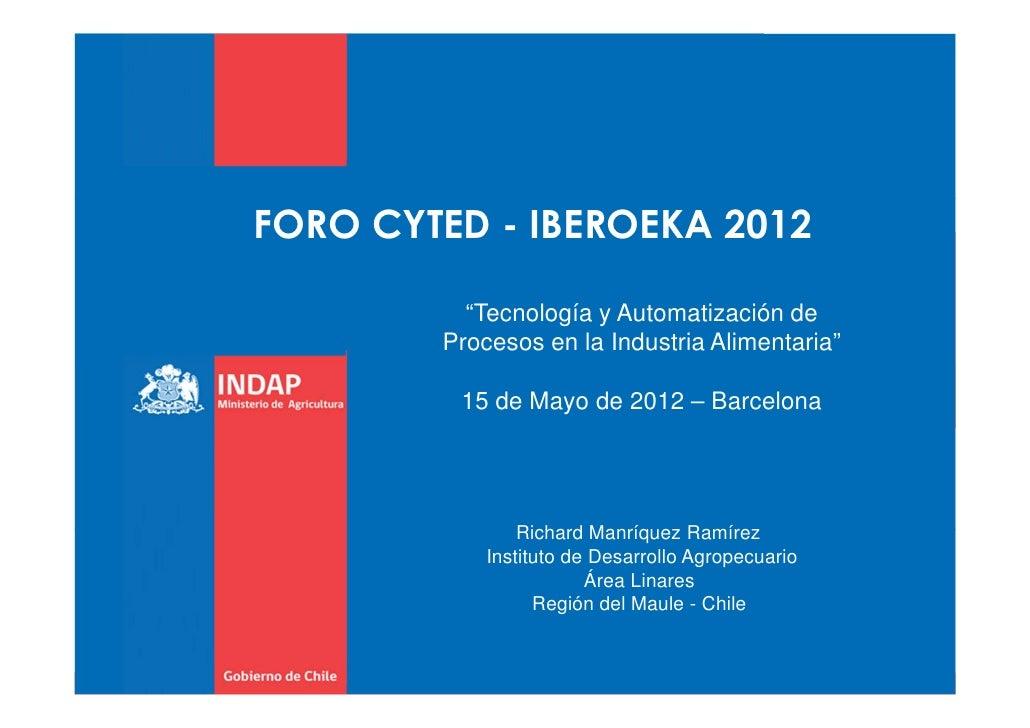 Foro CYTED IBEROEKA-INDAP