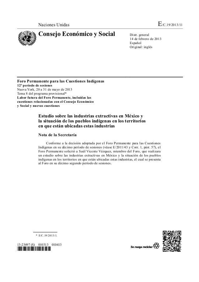 Naciones Unidas E/C.19/2013/11Consejo Económico y Social Distr. general14 de febrero de 2013EspañolOriginal: inglés13-2349...