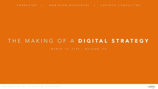 The Making of a Digital Strategy