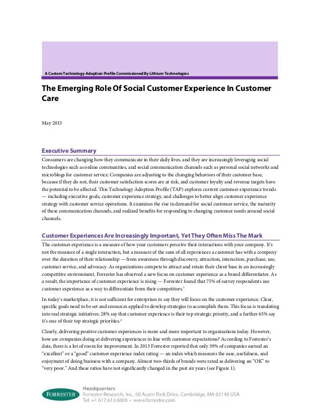 Forrester - The Emerging Role of Social Customer Care