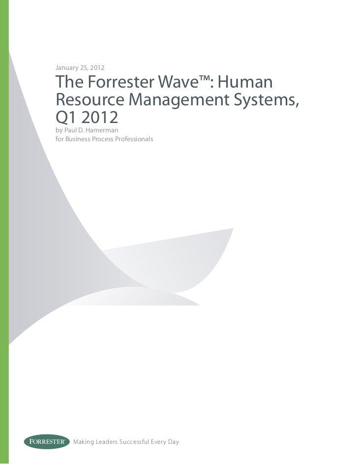 Forrester Hr Wave 2012