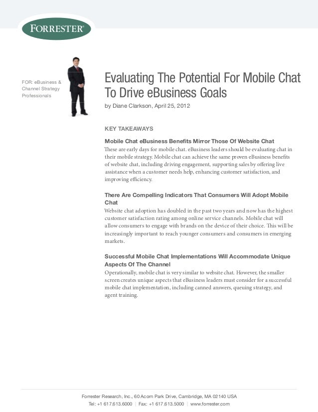 Etude Forrester « Evaluating The Potential For Mobile Chat »