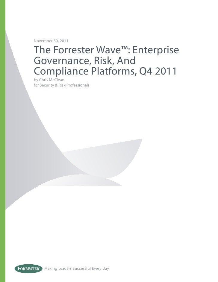 Forrester wave enterprise_grc_platforms_q4_2011
