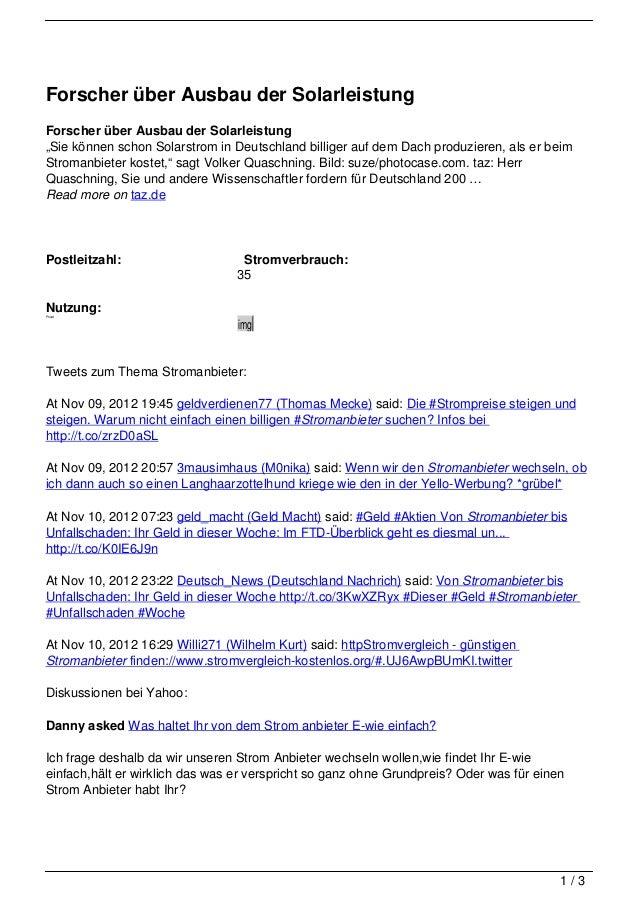"""Forscher über Ausbau der SolarleistungForscher über Ausbau der Solarleistung""""Sie können schon Solarstrom in Deutschland bi..."""