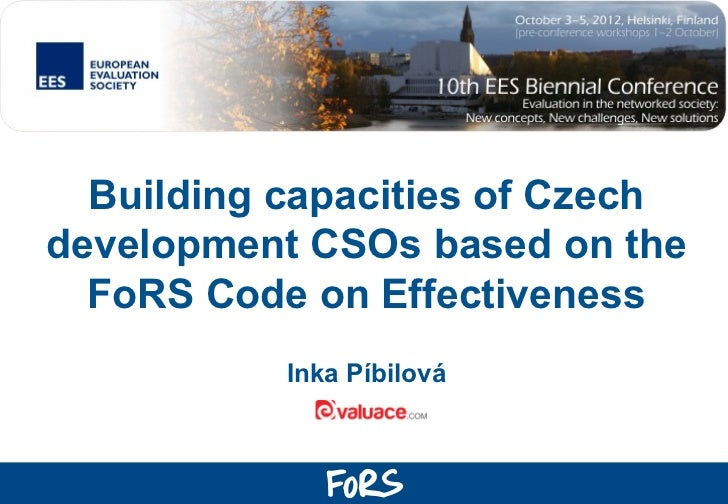 Evaluation and capacity building tools for Czech CSOs