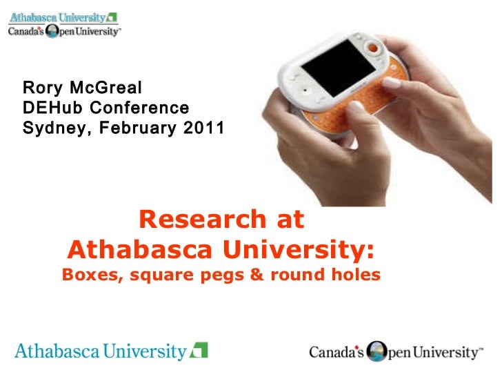 Rory McGreal DEHub Conference Sydney, February 2011 Research at Athabasca University:  Boxes, square pegs & round holes