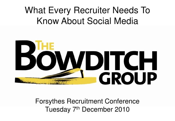 What Every Recruiter Needs To Know About Social Media