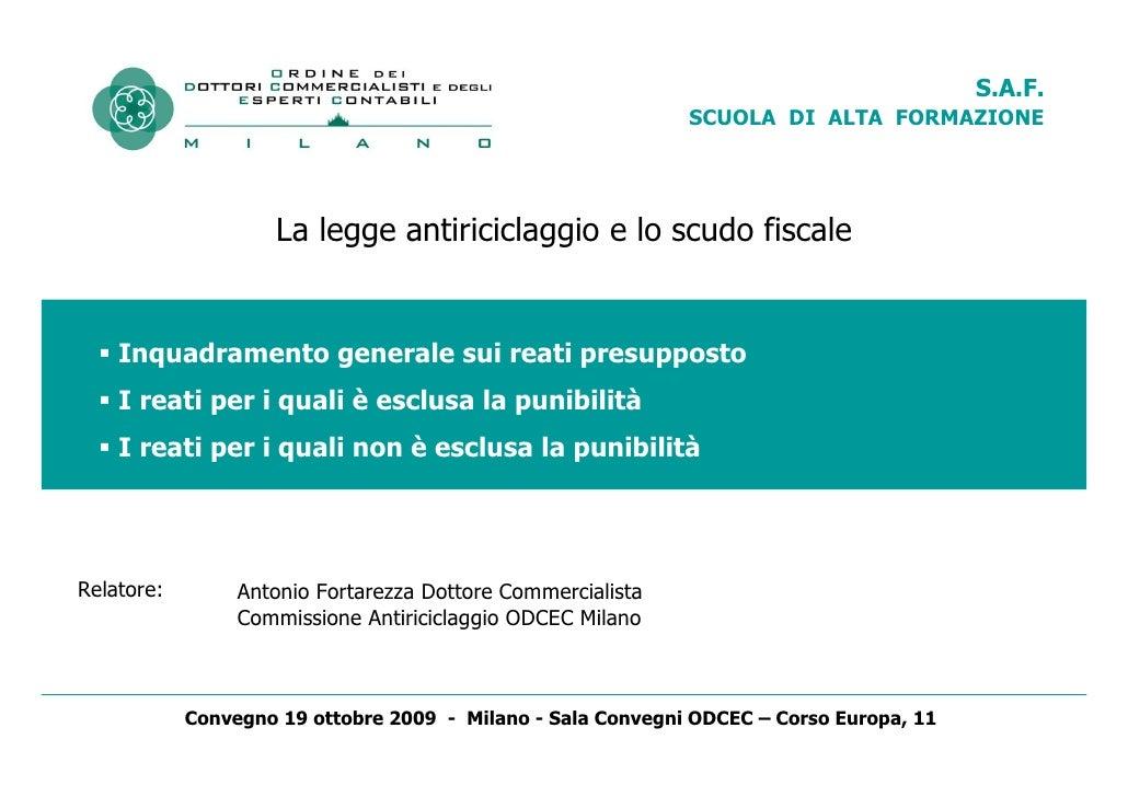 Fortarezza reati scudo_19-10-2009