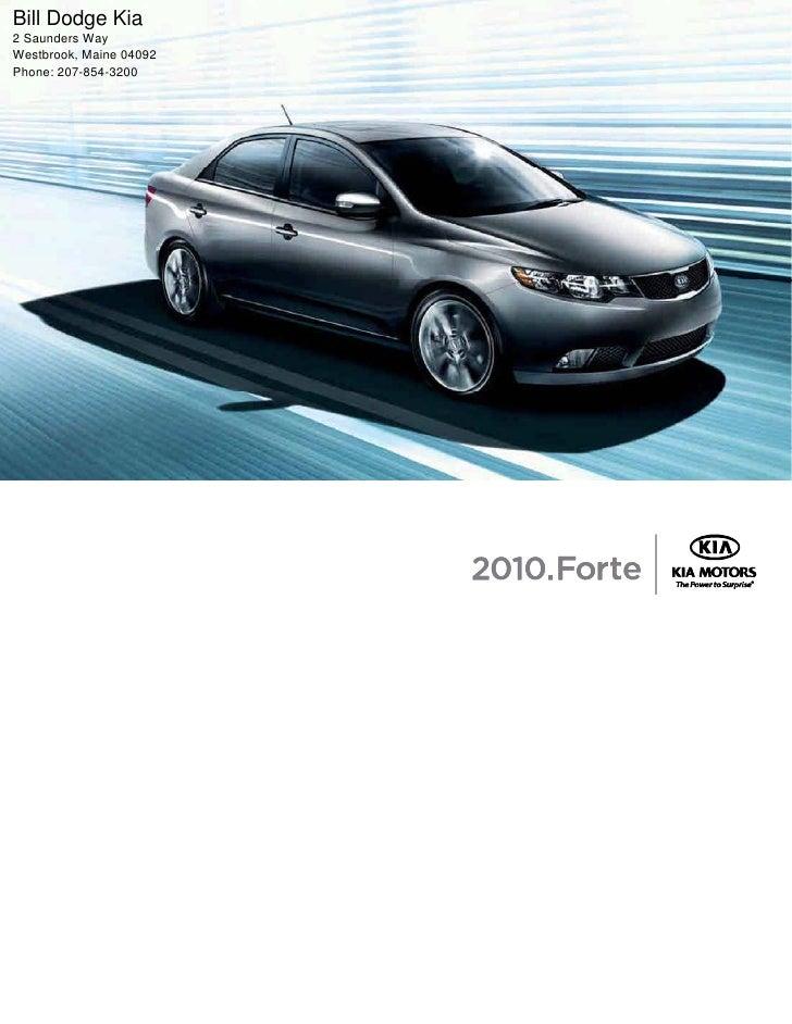 2010 Kia Forte Brochure Portland Maine