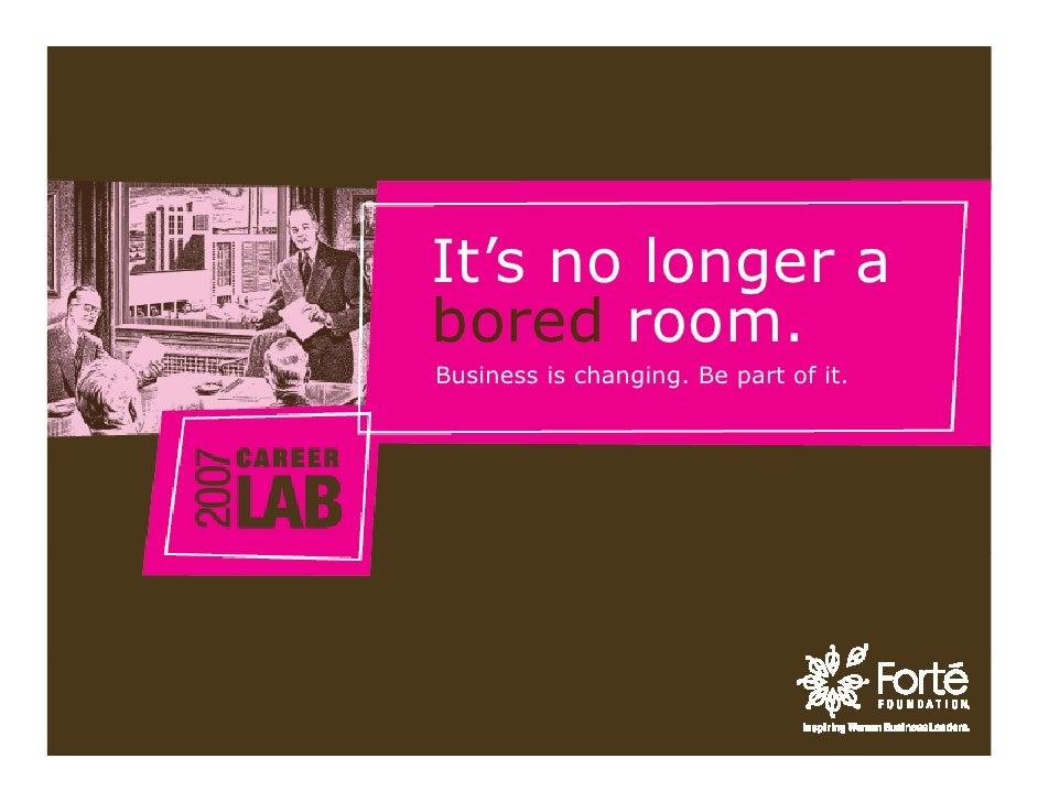 Forte Career Lab Marketing Keynote