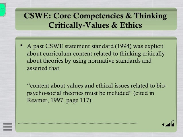 forte ethics  values  critical thinking theory ppt oct 26 14