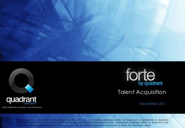 Talent Acquisition                                                                                                        ...