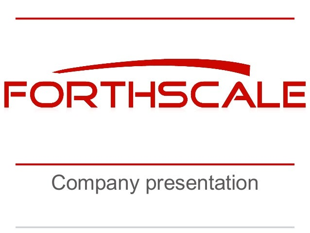 Forthscale systems company presentation 2013