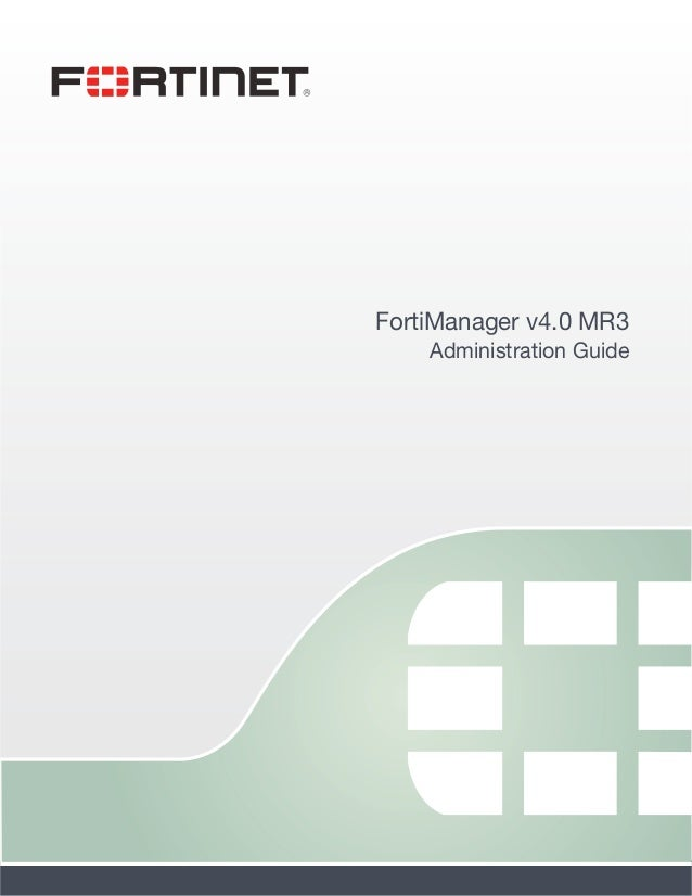 Fortimanager admin-40-mr3