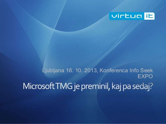Ljubljana 16. 10. 2013, Konferenca Info Seek EXPO