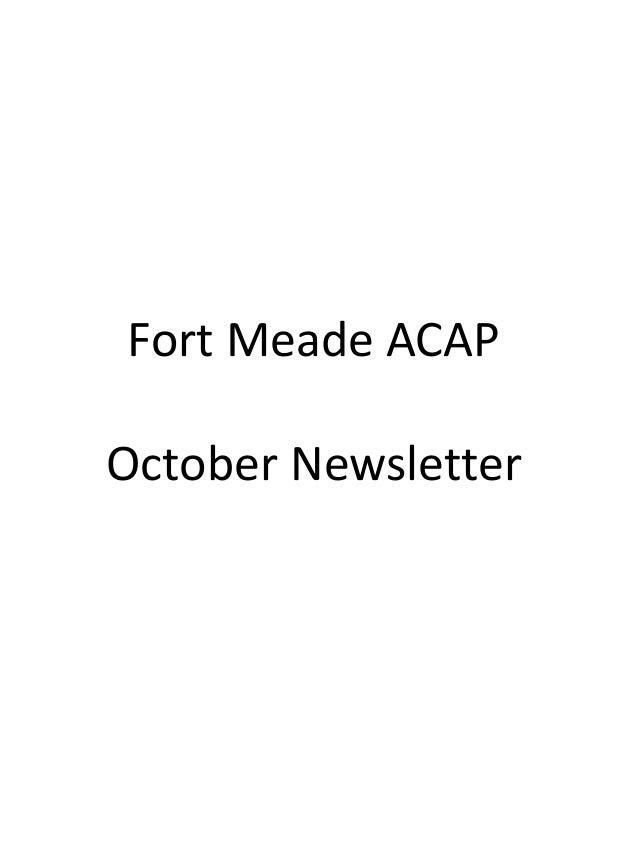 Fort Meade ACAP October Newsletter