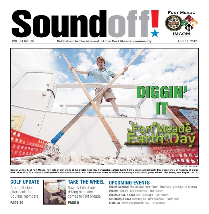 Soundoff! vol. 64 no. 16	                         Published in the interest of the Fort Meade community	                  ...