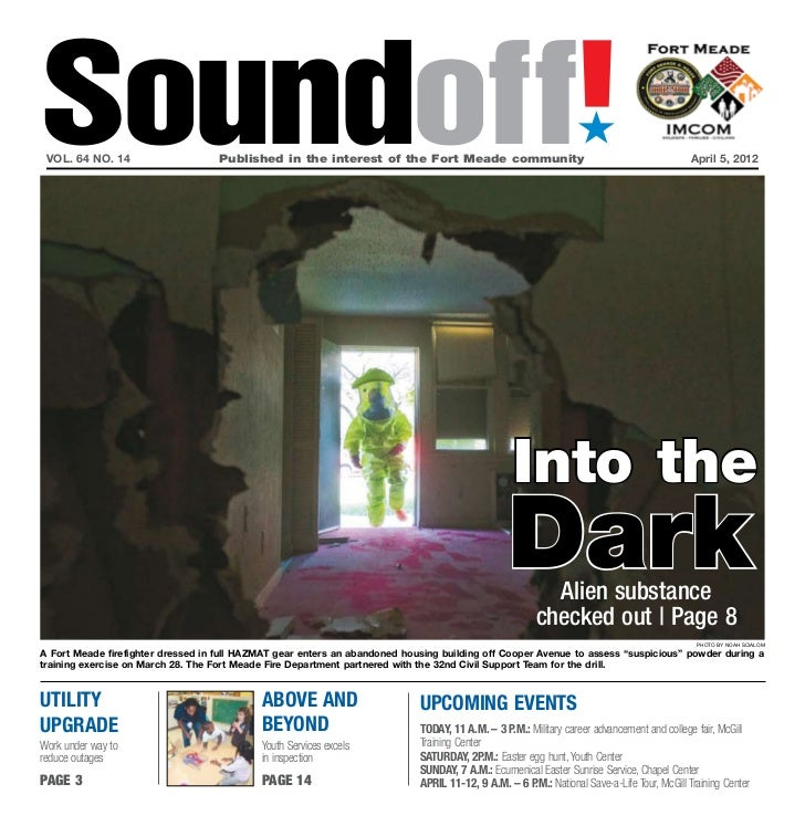 Soundoff! vol. 64 no. 14                    Published in the interest of the Fort Meade community                       ...