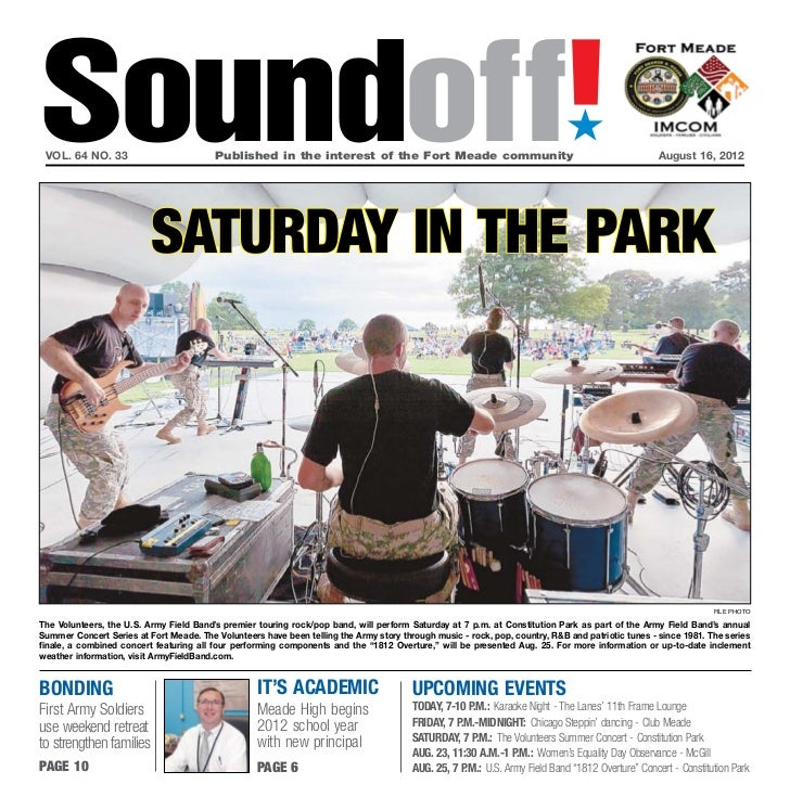 Soundoff! vol. 64 no. 33                         Published in the interest of the Fort Meade community                  ...