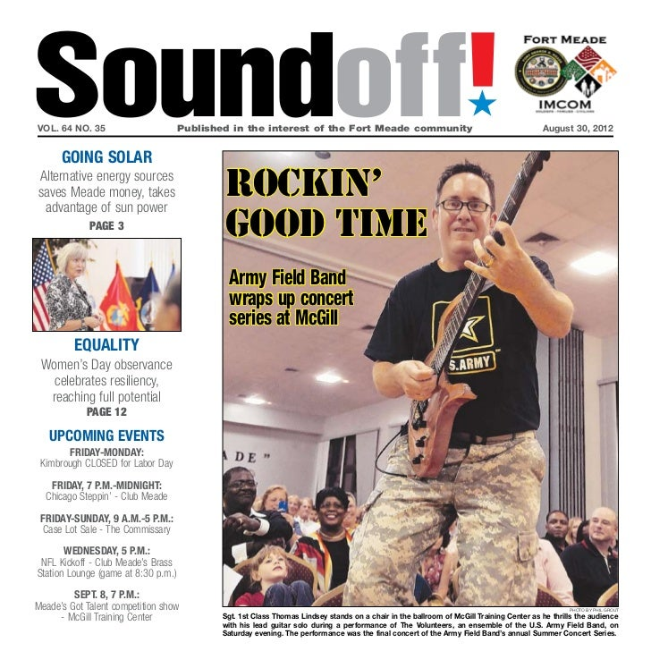 Soundoff!vol. 64 no. 35      going solar                                     Published in the interest of the Fort Meade ...